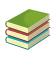 Education and books isolated flat icon vector image vector image