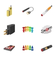Electronic cigarette icons set cartoon style vector image vector image