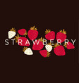 elegant luxury strawberry design element vector image vector image