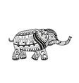 Ethnic ornamented baby elephant vector image