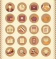 Financial and Business Icons Brown Set vector image vector image