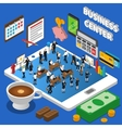 Financial Business Center Isometric Composition vector image vector image
