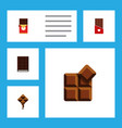 flat icon chocolate set of chocolate chocolate vector image vector image