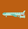 flat icon in shading style airplane gangway vector image vector image
