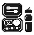 fresh lunchbox icon simple style vector image vector image