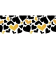 Gold and Black Hearts Horizontal Seamless vector image vector image