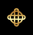 gold celtic knot interlocked circles luxury logo vector image