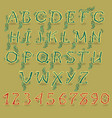 green country alphabet vector image vector image