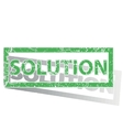 Green outlined SOLUTION stamp vector image