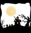 halloween background with house vector image vector image