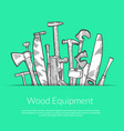 hand drawn woodwork elements vector image vector image