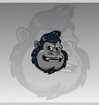 head gorilla mascot logo vector image vector image