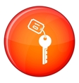 Hotel key icon flat style vector image vector image