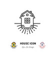 house icon village apartments symbol homestead vector image vector image