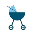 isolated baby stroller icon vector image