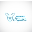 Line Style Abstract Kangaroo Hipster Face vector image vector image