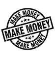 make money round grunge black stamp vector image vector image
