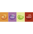 many fresh juice drops background vector image