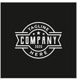 minimalist vintage stamp label badge logo design vector image vector image
