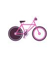 pink touring bike modern bicycle vector image vector image