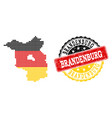 pixelated map of brandenburg state colored in vector image vector image