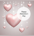 poster happy valentines day vector image vector image