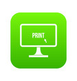 print word on a computer monitor icon digital vector image vector image