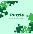 puzzle frame vector image vector image