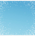 random white dots christmas background subtle fly vector image vector image
