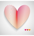 Red Pattern with Heart on Center vector image vector image