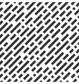 Repeatable white pattern with black stripes vector image