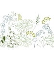 seamless background with stylized flowers vector image