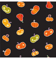 seamless infinite background with pumpkins vector image