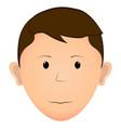 serious man avatar vector image