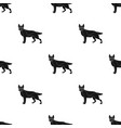 shepherd single icon in black style dog vector image vector image