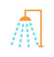 shower emblem isolated icon cartoon style vector image