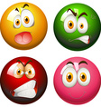 Snooker balls with faces vector image vector image