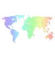spectrum cirle dot world map vector image vector image