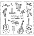 string hand drawn doodle set vector image