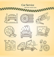 thin line pictogram symbols of car service vector image vector image