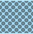 tile pattern with black polka dots on blue grey vector image vector image