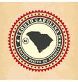 vintage label-sticker cards south carolina vector image