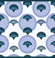 white pattern with blue circle and ornament vector image