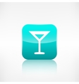 Wine glass web icon Application button vector image