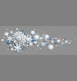 winter decoration with snowflakes vector image vector image