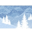 Winter mountain landscape with fir trees vector image vector image