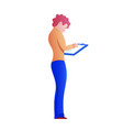worker with clipboard flat vector image vector image