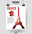 France travel background Brochure with France map vector image