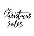 Christmas sales hand drawn lettering Handmade vector image