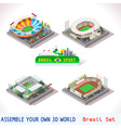 Game Set 12 Building Isometric vector image